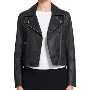 NWT Theory New Moto Jacket Black Lamb Leather L